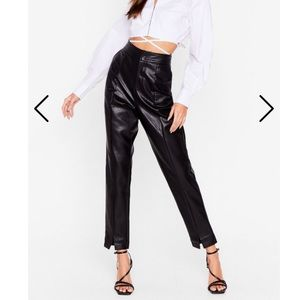 Nasty Gal faux leather pants
